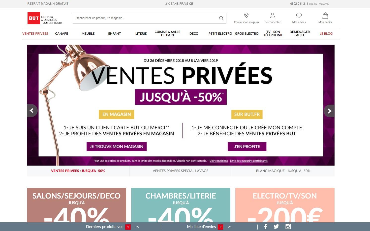Carte But Mon Compte.Visiter Le Site But Fr Avis But 2019 Top Site Marchand